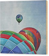3 Balloons At Readington Wood Print by Pat Abbott