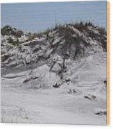 Beach Sand Dunes Wood Print