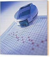 Blood Glucose Tester Wood Print by Steve Horrell