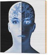 Brain Scan Wood Print