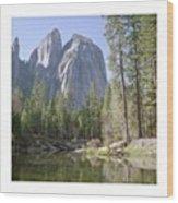 3 Brothers. Yosemite Wood Print