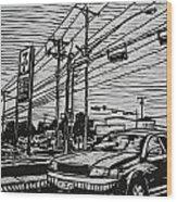 Burnet Road Wood Print