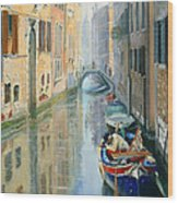 Canals Of Venice  Wood Print