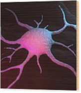 Cancer Cell, Conceptual Artwork Wood Print
