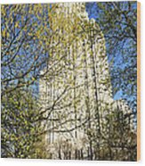 Cathedral Of Learning Wood Print