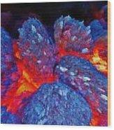 Charcoal Fire Wood Print