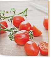 Cherry Tomatoes Wood Print