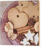 Christmas Gingerbread Wood Print