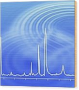 Chromatogram, 2d View Wood Print