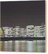 City Hall And Hms Belfast Wood Print