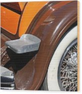 Classic Antique Car- Detail Wood Print