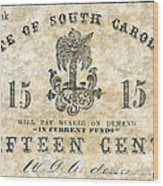 Confederate Currency Wood Print