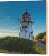 Cove Head Lighthouse Wood Print