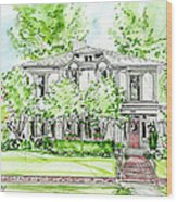 Custom House Rendering Wood Print