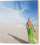 Desert Woman Wood Print