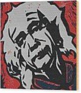 Einstein 2 Wood Print by William Cauthern