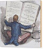 Election Cartoon, 1876 Wood Print