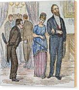 Election Cartoon, 1877 Wood Print