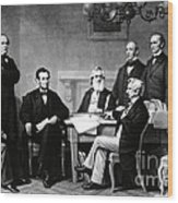 Emancipation Proclamation Wood Print by Photo Researchers