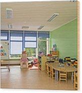 Empty Estonian Elementary Grade School Wood Print by Jaak Nilson