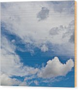 English Summer Sky Wood Print