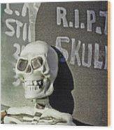 Fall  Halloween On Tillson Street Wood Print