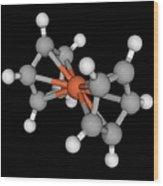 Ferrocene Molecule Wood Print