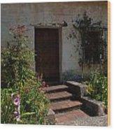 Gardens In Carmel Monastery Wood Print