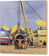 Gas Line Construction Wood Print