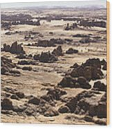 Giant Sandstone Outcroppings Deep Wood Print