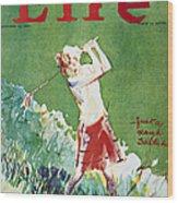 Golfing: Magazine Cover Wood Print