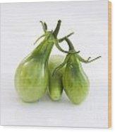 Green Tomato Wood Print