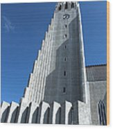 Hallgrimskirkja Church - Reykjavik Iceland  Wood Print