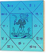 Horoscope Types, Engel, 1488 Wood Print