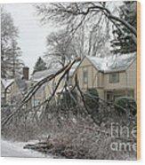 Ice Storm Wood Print