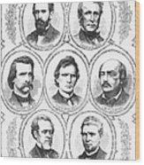 Johnson Impeachment Trial Wood Print