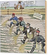 League Of Nations Cartoon Wood Print