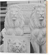 3 Lions Wood Print