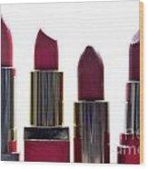 Lipsticks Wood Print by Bernard Jaubert
