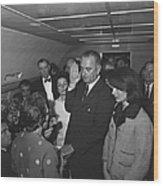 Lyndon Baines Johnson Wood Print