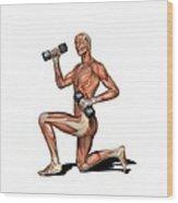 Male Muscles, Artwork Wood Print