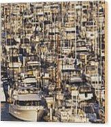 Marina Wood Print by Jeremy Woodhouse