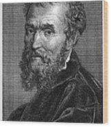 Michelangelo (1475-1564) Wood Print by Granger
