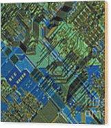 Microprocessor Wood Print by Michael W. Davidson