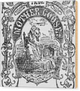 Mother Goose, 1833 Wood Print