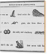 Mother Goose, 1849 Wood Print