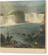 Niagara Falls, 1837 Wood Print