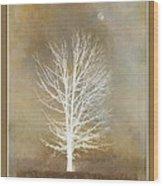 November Moon Wood Print