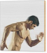 Nude Man Wood Print by Cristina Pedrazzini