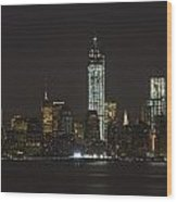 Nyc Harbor View Wood Print